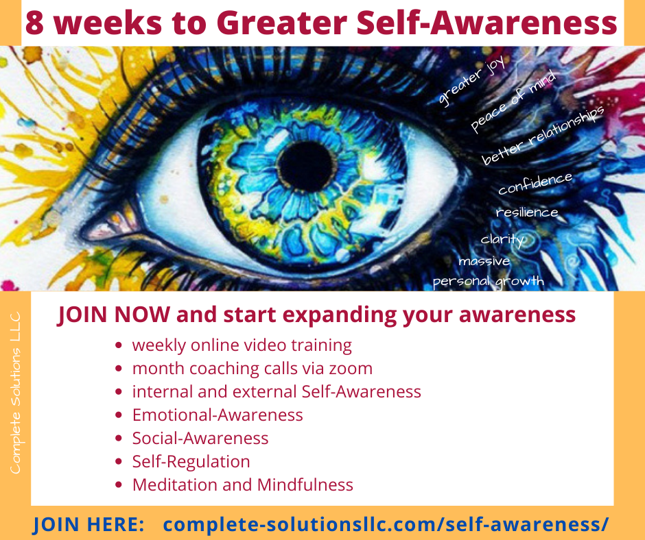 8 weeks to Greater Self-Awareness